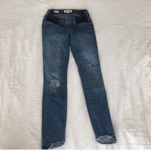 Madewell Maternity Distressed Skinny Jeans 23